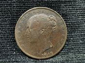 Victoria, Young Head Farthing 1847, F, AK12